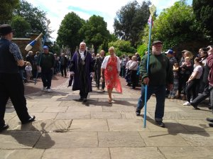 And the weather stayed fine for the Civic Service